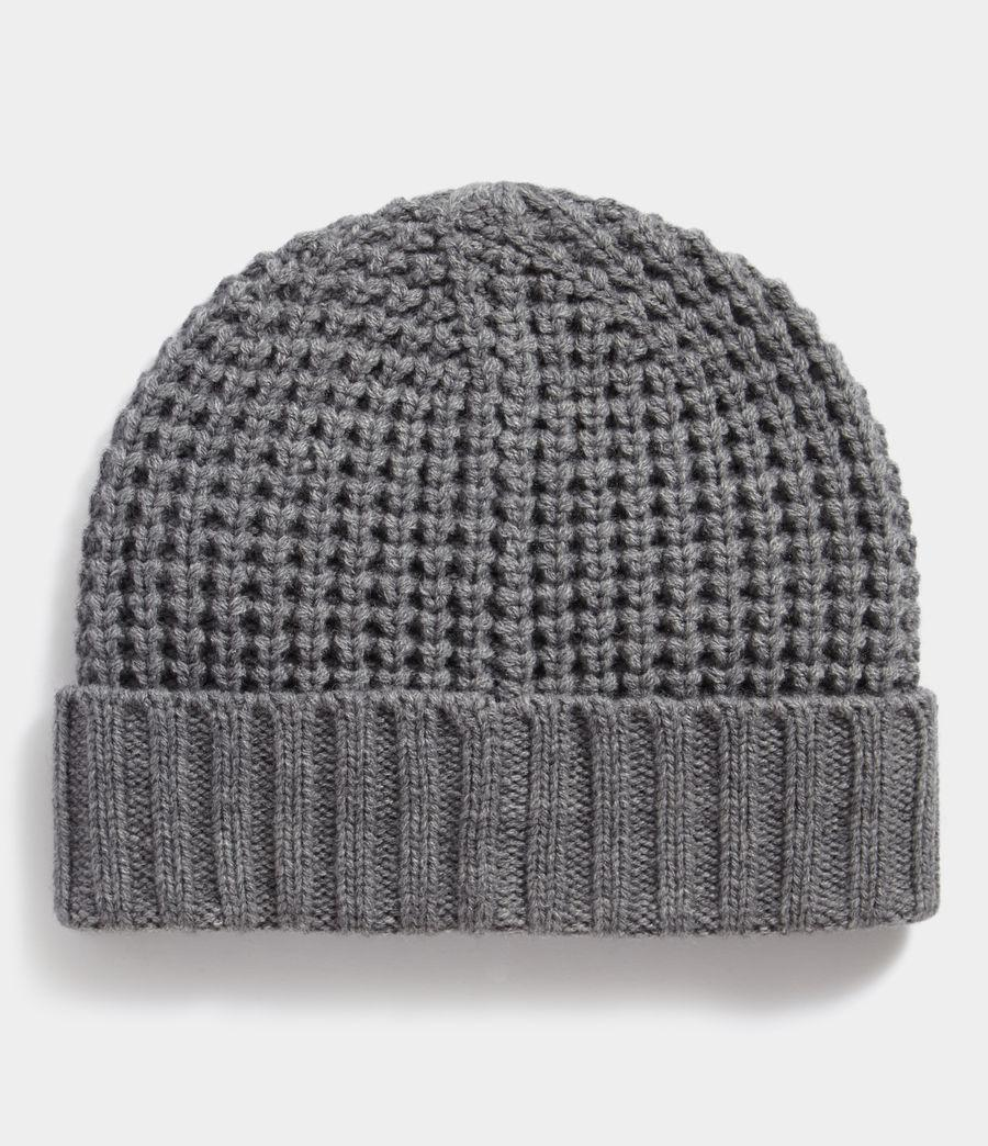 5aef7fa4515c Allsaints Thermal Stitch Beanie in Gray for Men - Lyst