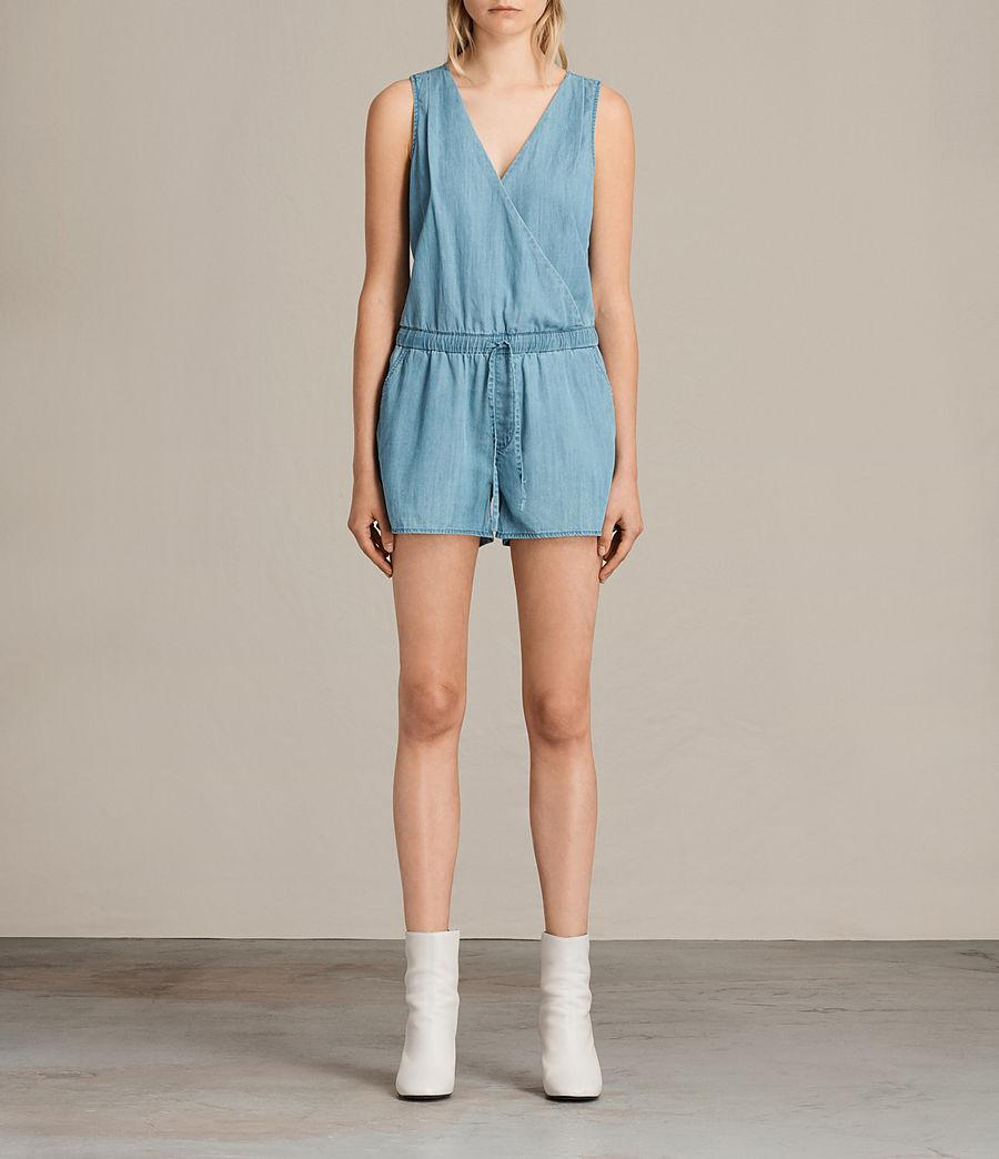419034a6c6a AllSaints Penny Playsuit in Blue - Lyst
