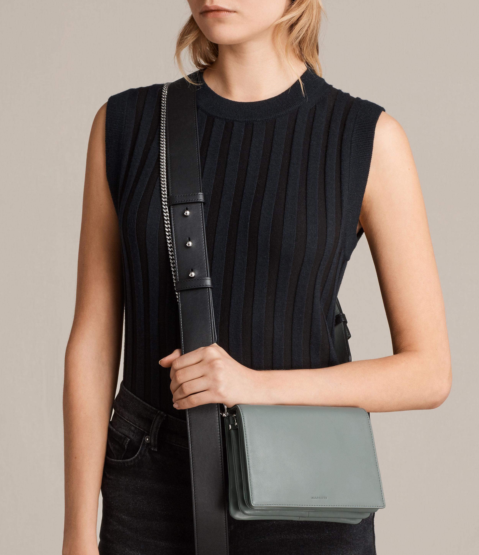 ade00fca1590 Lyst - AllSaints Zep Lea Shoulder Bag