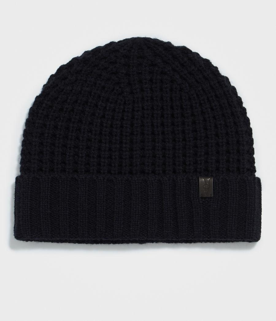 4e49c0fb128 AllSaints Thermal Stitch Beanie in Blue for Men - Lyst