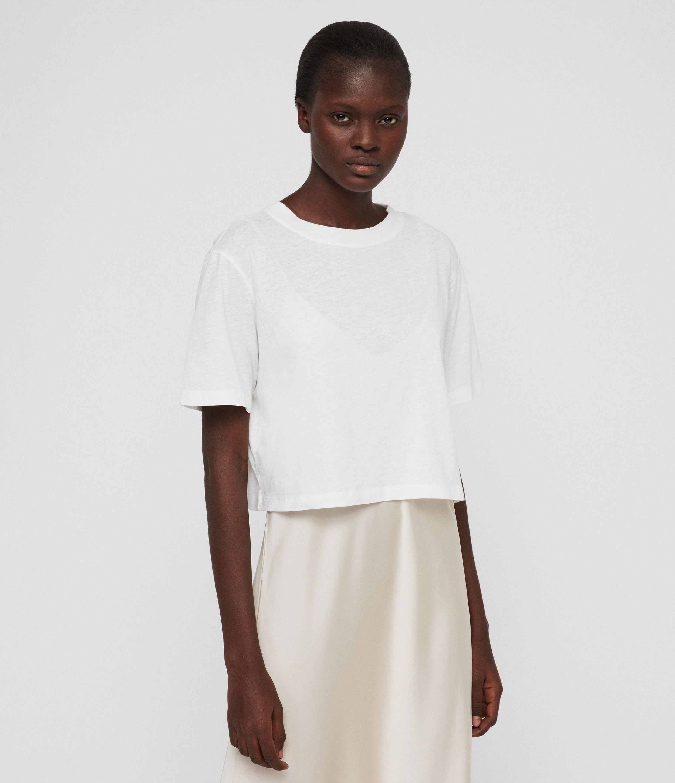 a4f8c2f2c0c AllSaints Benno T-shirt Dress in White - Lyst