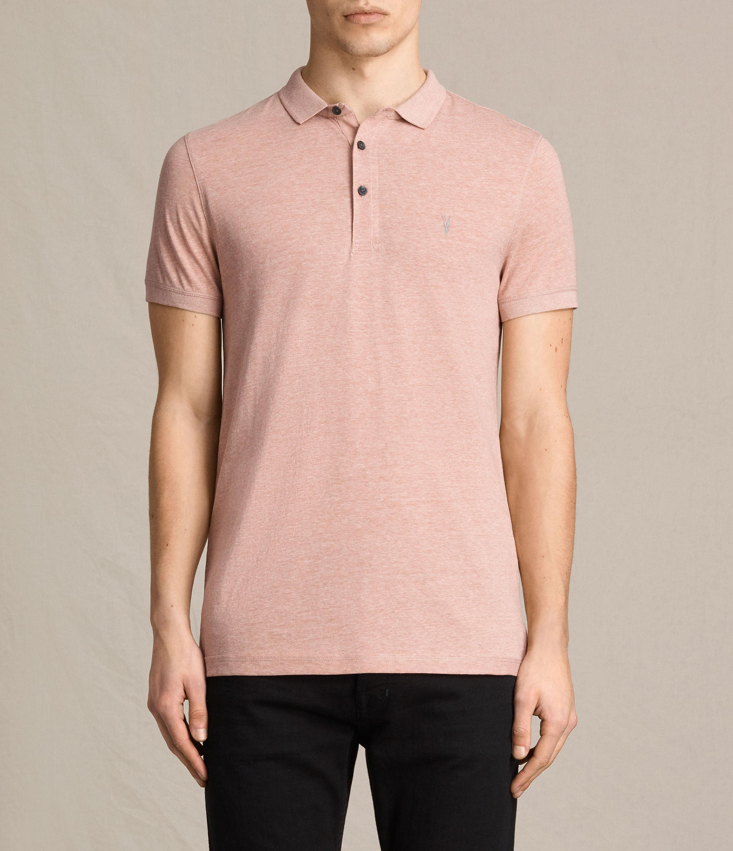 Allsaints alter polo shirt usa usa in pink for men lyst for All saints polo shirt