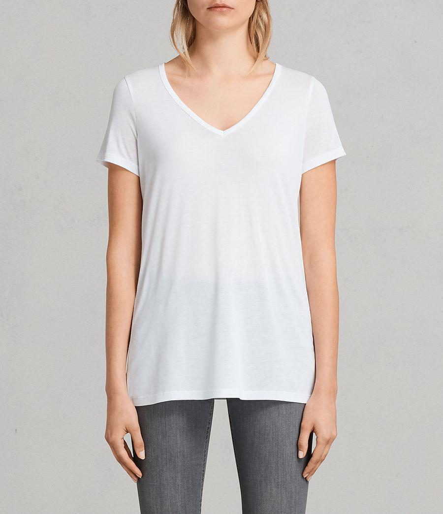 845bc600 AllSaints Malin Silk T-shirt in White - Lyst