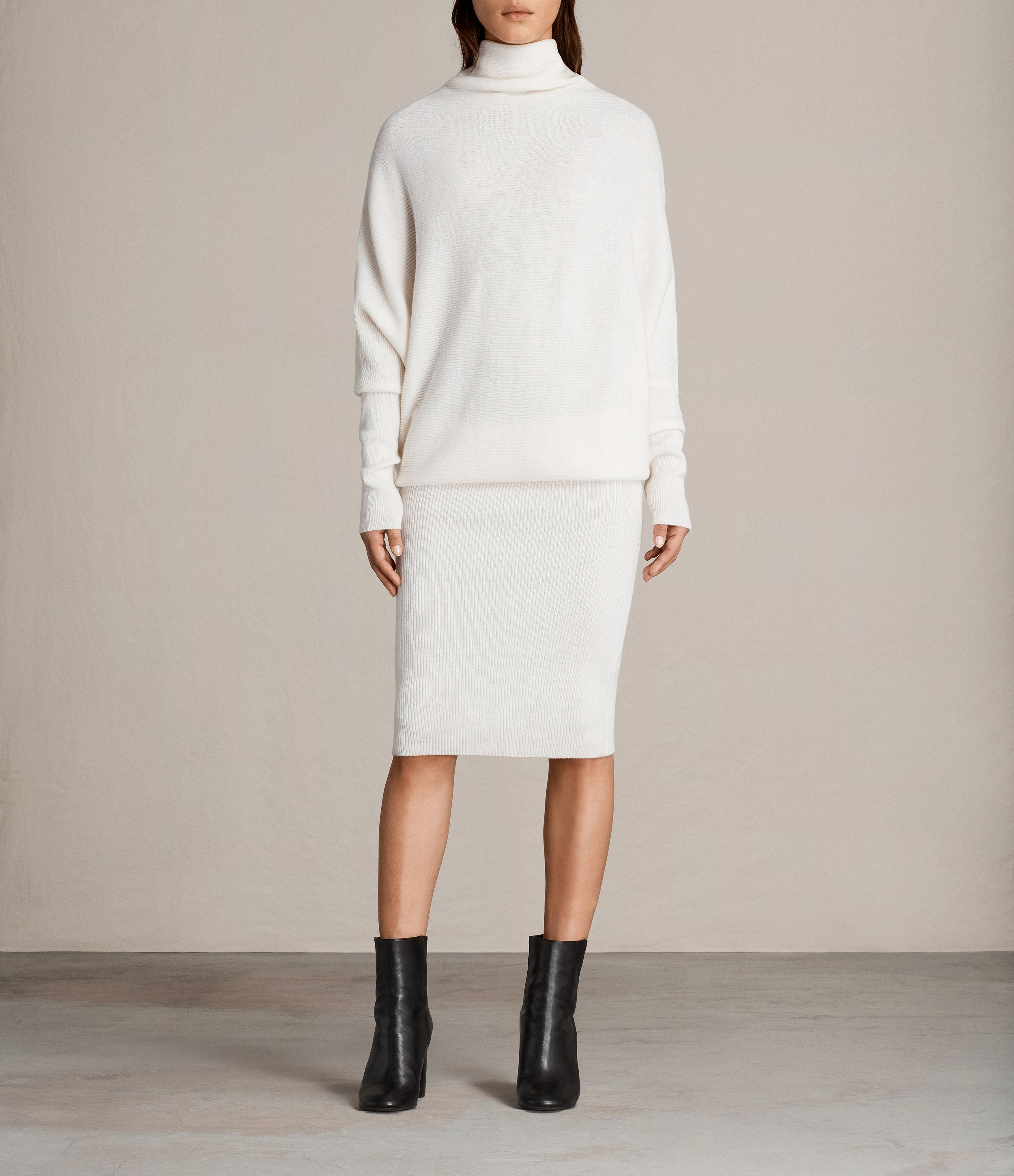 Lyst Allsaints Ridley Knitted Dress In White