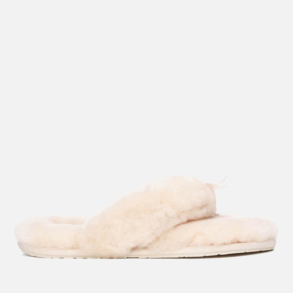 UGG. Natural Women's Fluff Flip Flop Ii Slippers