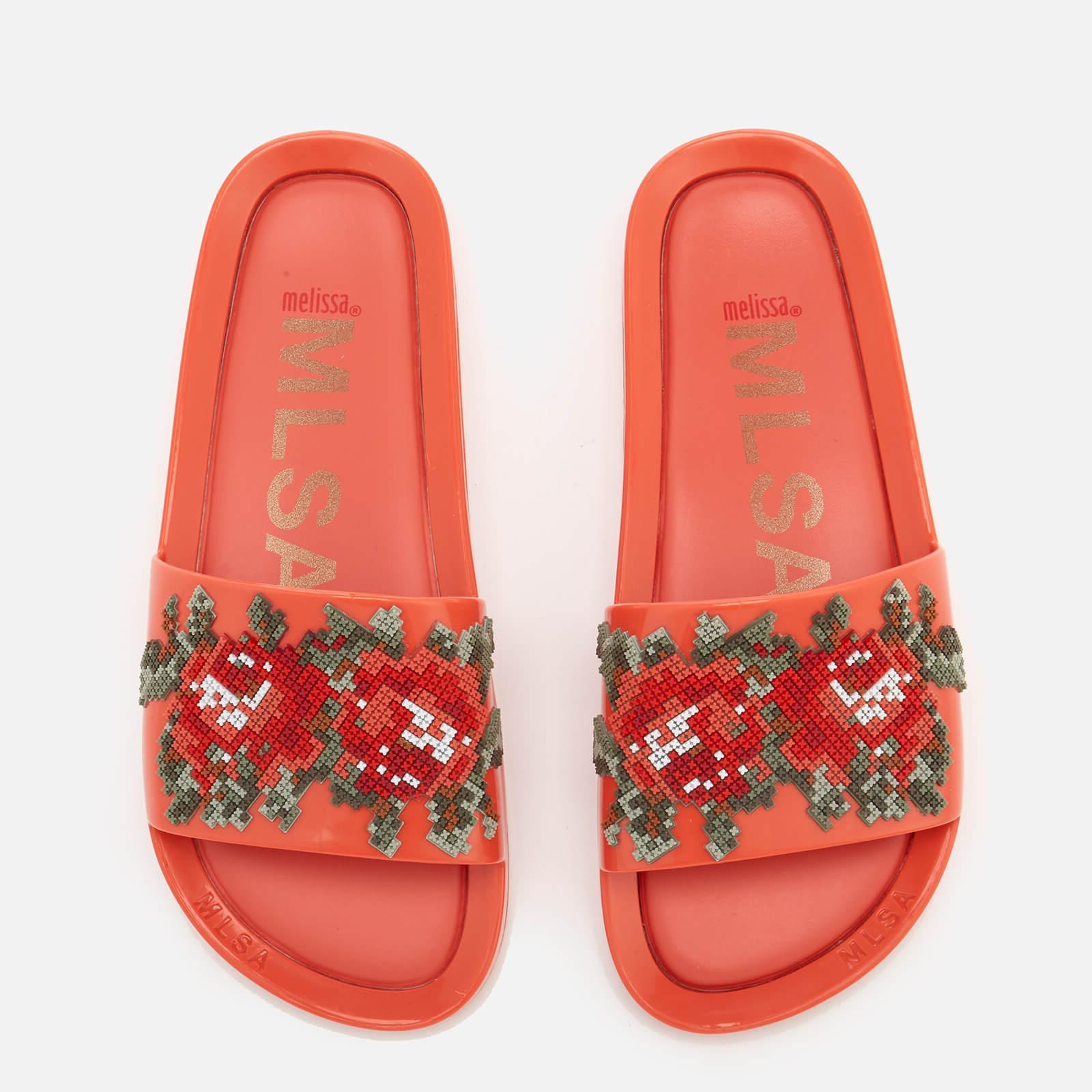 3f63622cb5fa8d Melissa - Orange Flower Pixel Beach Slide Sandals - Lyst. View fullscreen