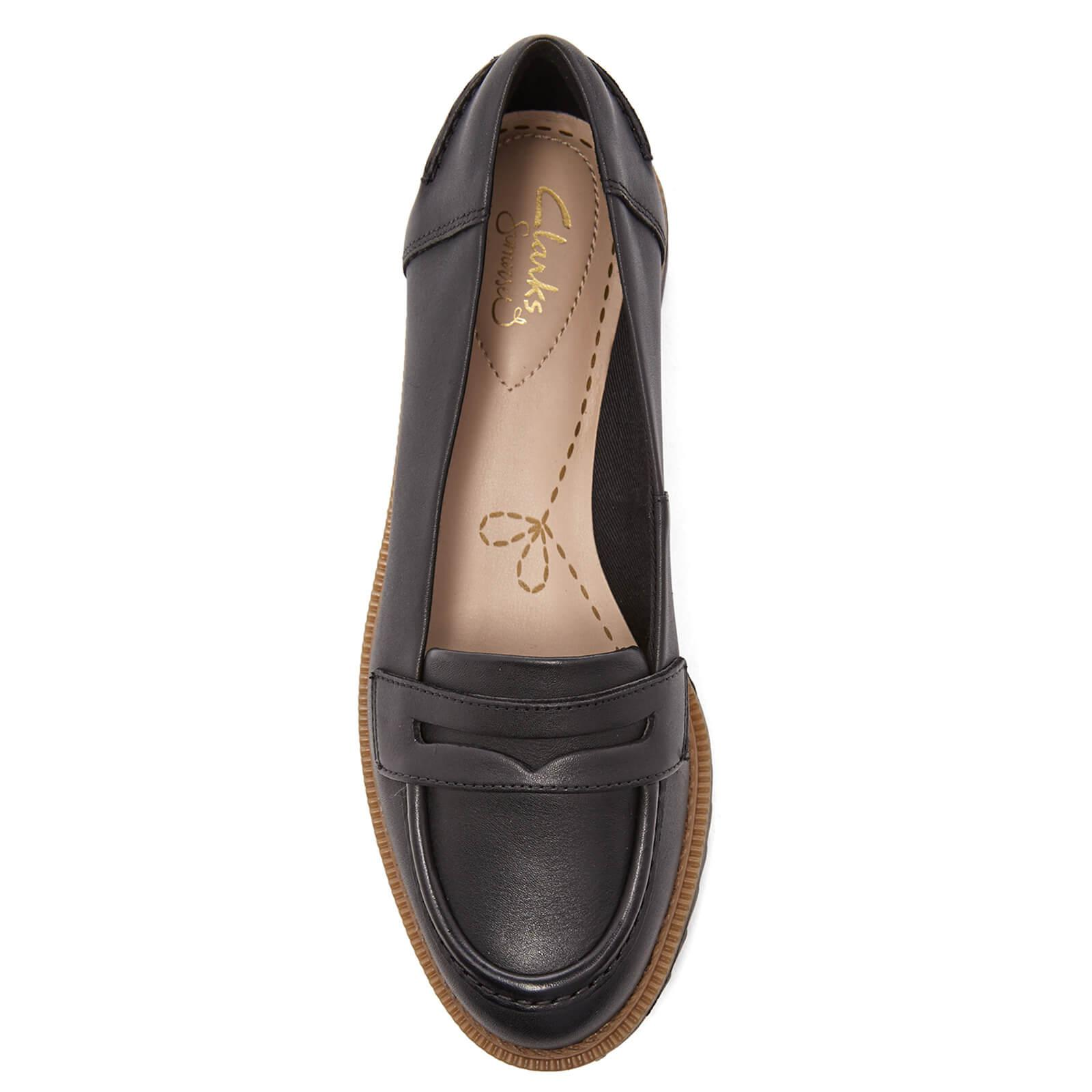32fb2f93c76 Clarks - Black Women s Griffin Milly Leather Loafers - Lyst. View fullscreen