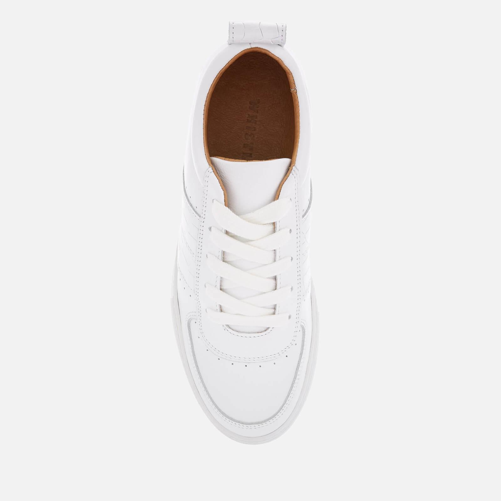 49e8a737f30d74 Whistles - White Anna Low Top Trainers - Lyst. View fullscreen