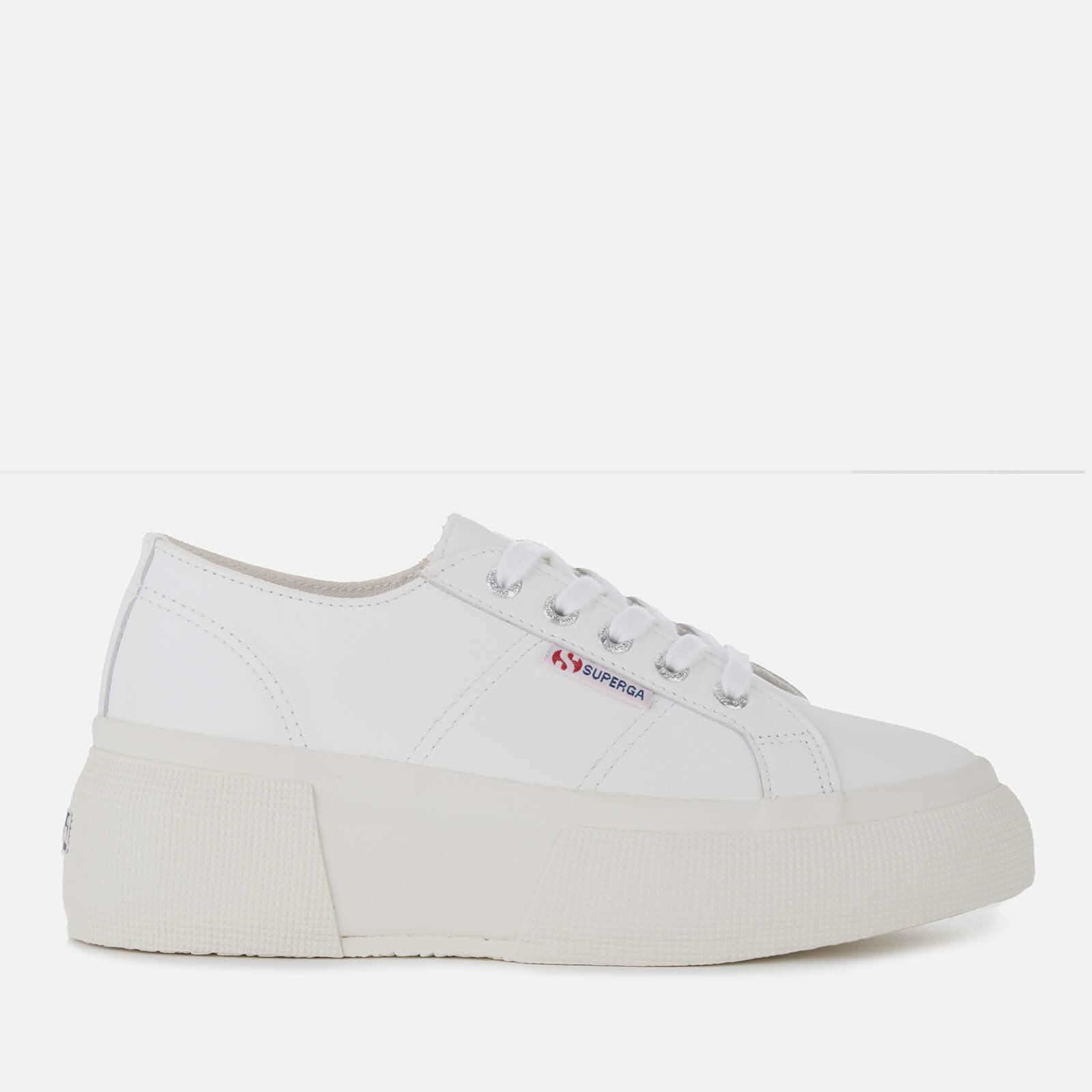 2287 Flatform Lyst Superga Trainers Leanappaw Women's White Leather In ZxF1PF