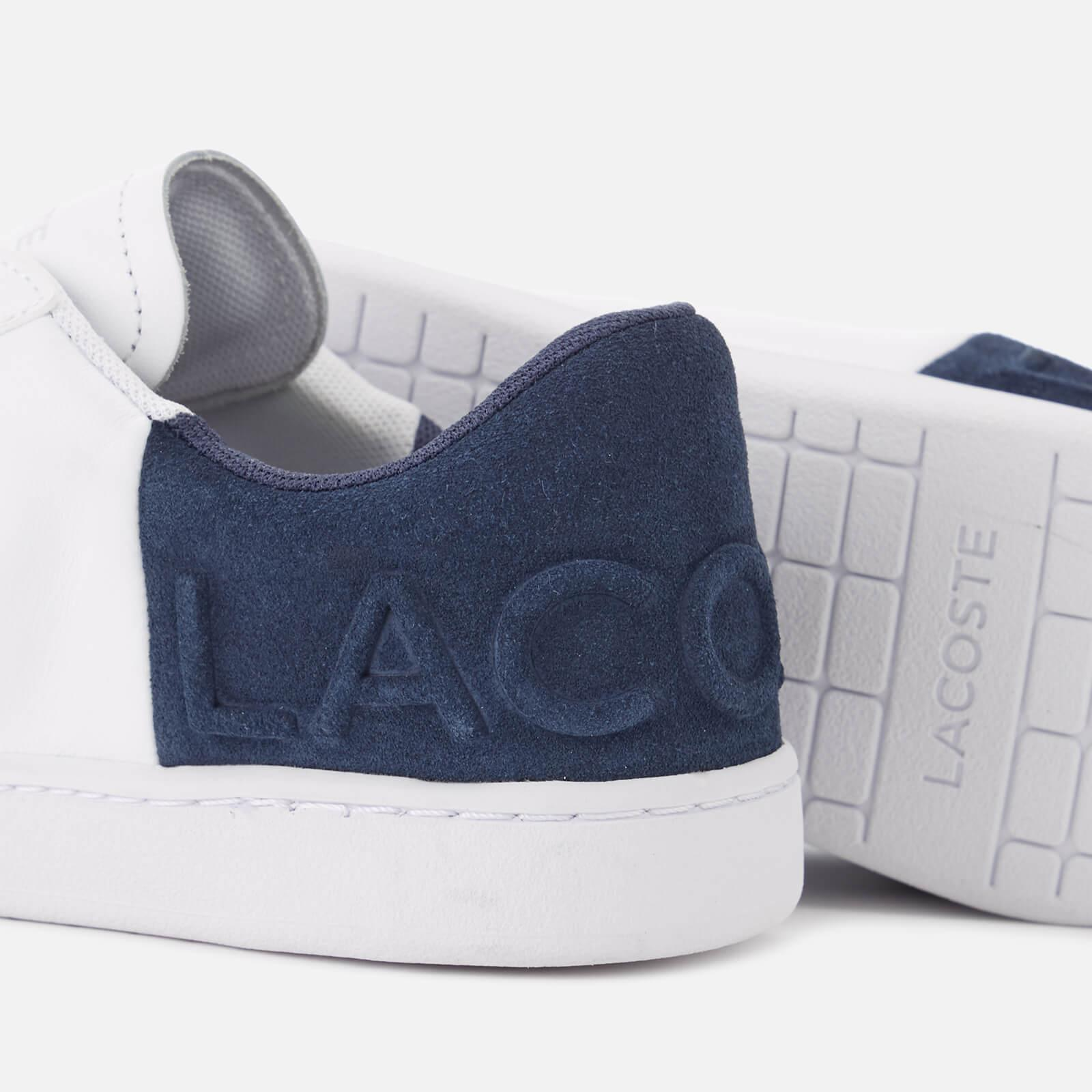 b0720d8aabd9c2 Lyst - Lacoste Carnaby Evo 318 3 Leather suede Trainers in White