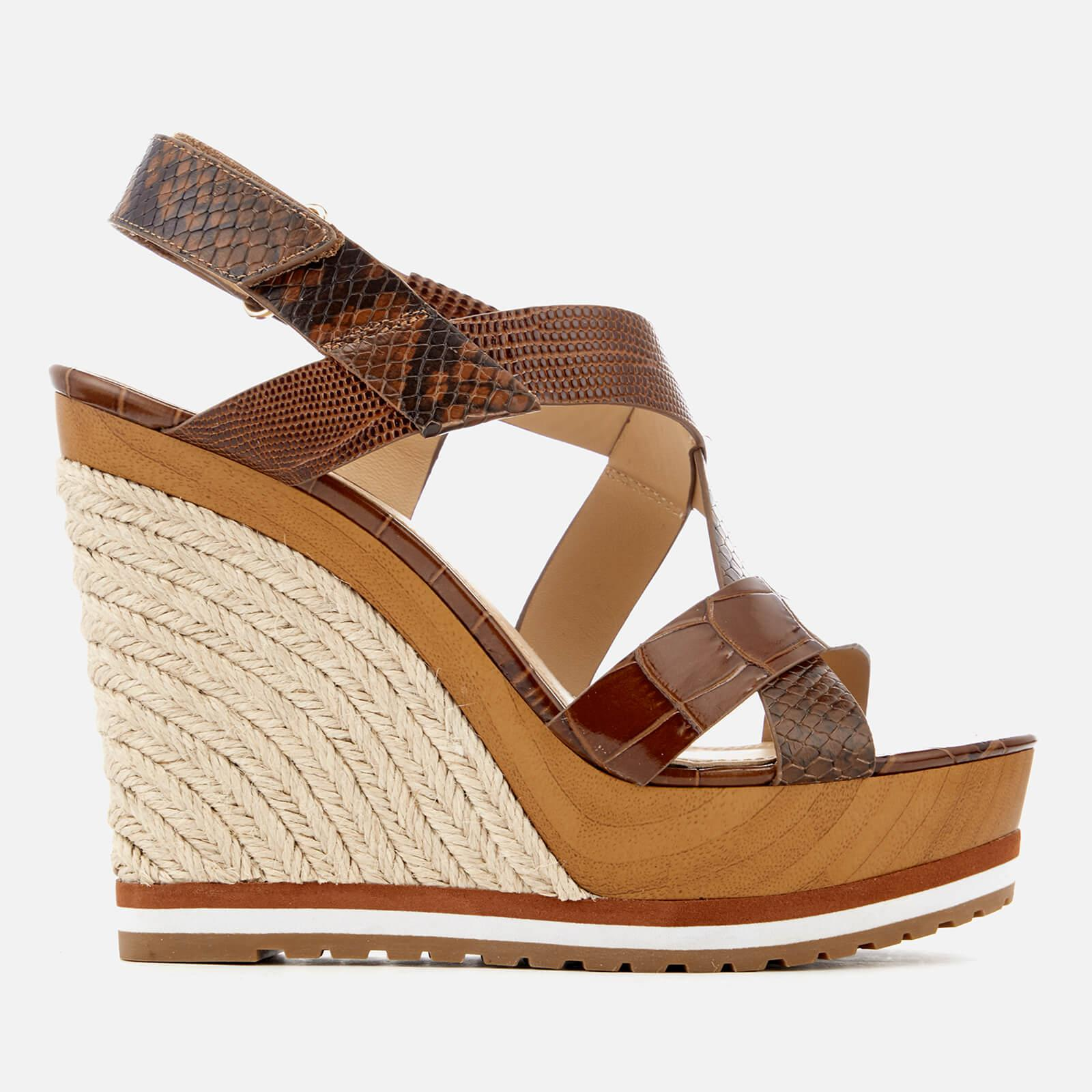0fa5a09359 MICHAEL Michael Kors. Women's Brown Mackay Embossed Croc/leather Wedged  Sandals