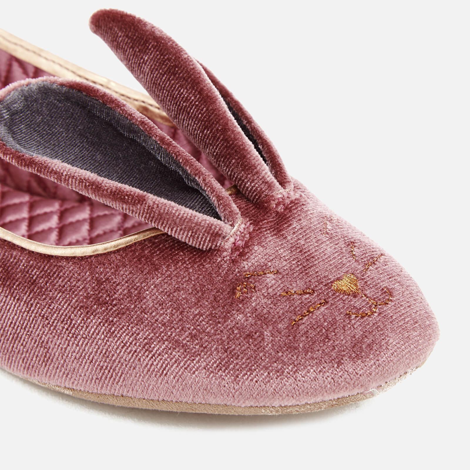 be273dcacb852b Lyst - Ted Baker Women s Bellamo Velvet Bunny Slippers in Pink