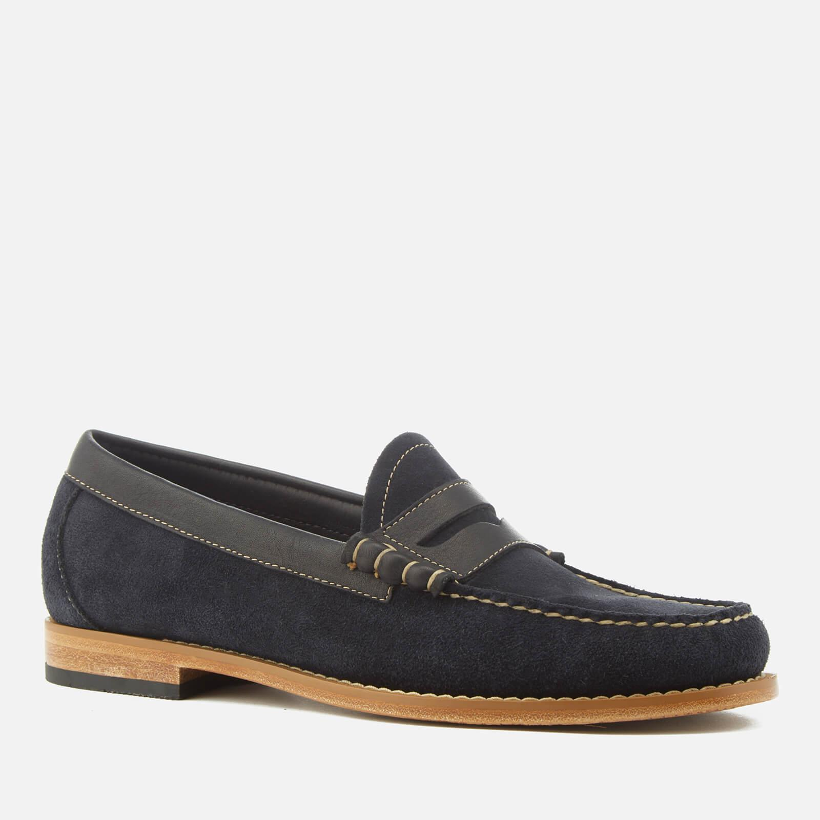 2320c0883a3 Lyst - G.H.BASS Larson Reverso Suede Loafers in Blue for Men