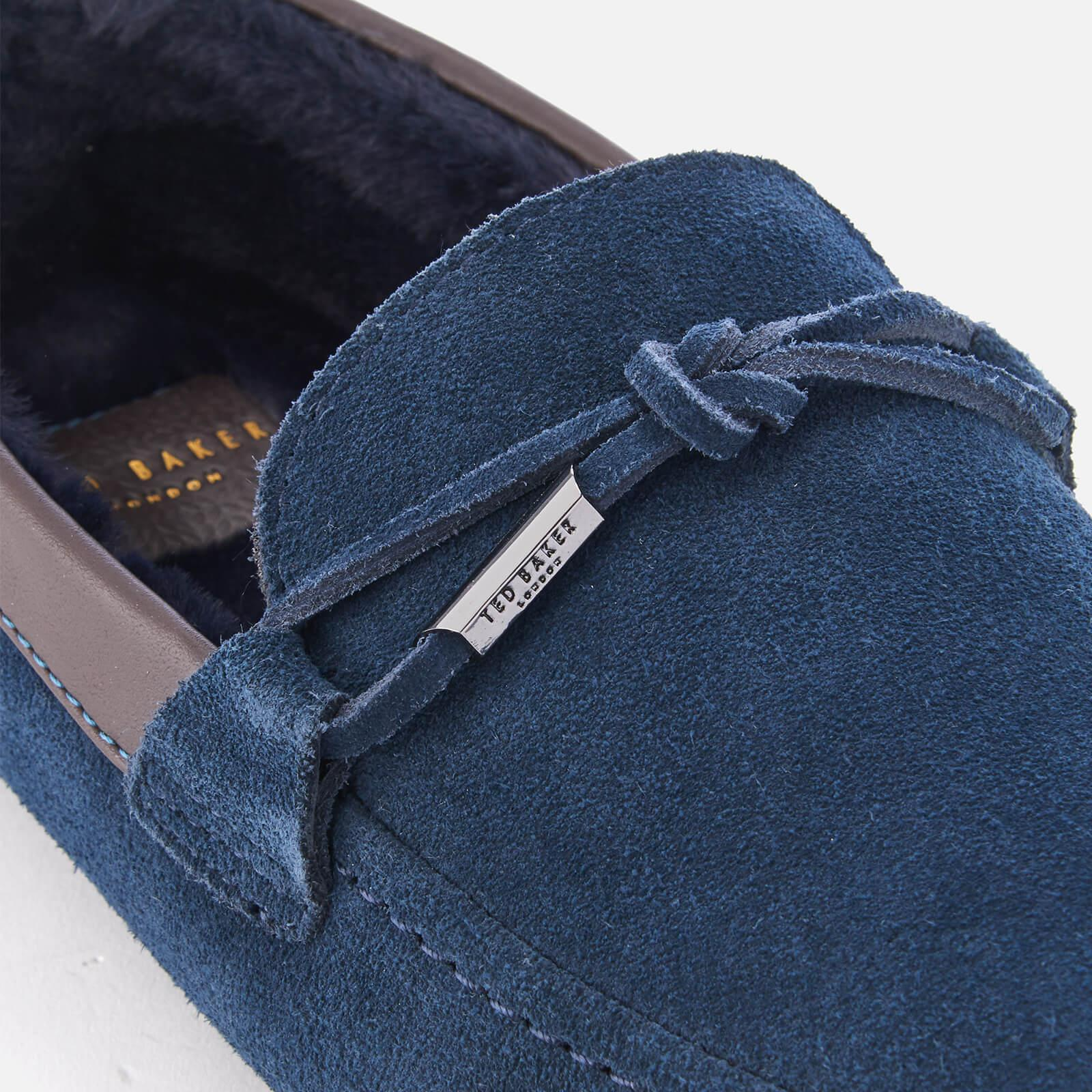 138c8d934 Lyst - Ted Baker Valcent Suede Moccasin Slippers in Blue for Men