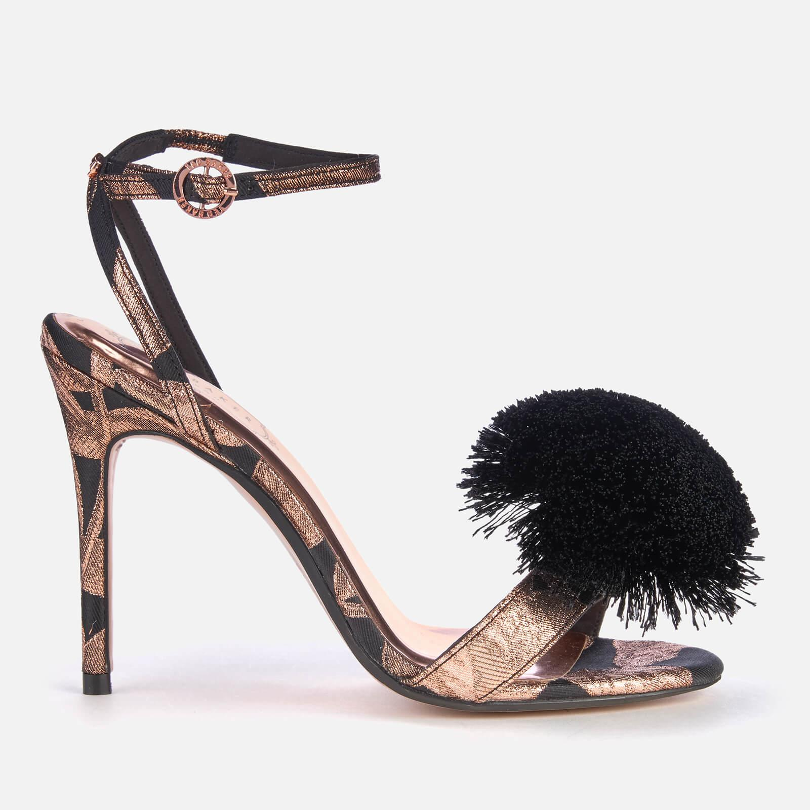 4b30a2b6f Ted Baker. Women s Black Elynie Jacquard Barely There Heeled Sandals