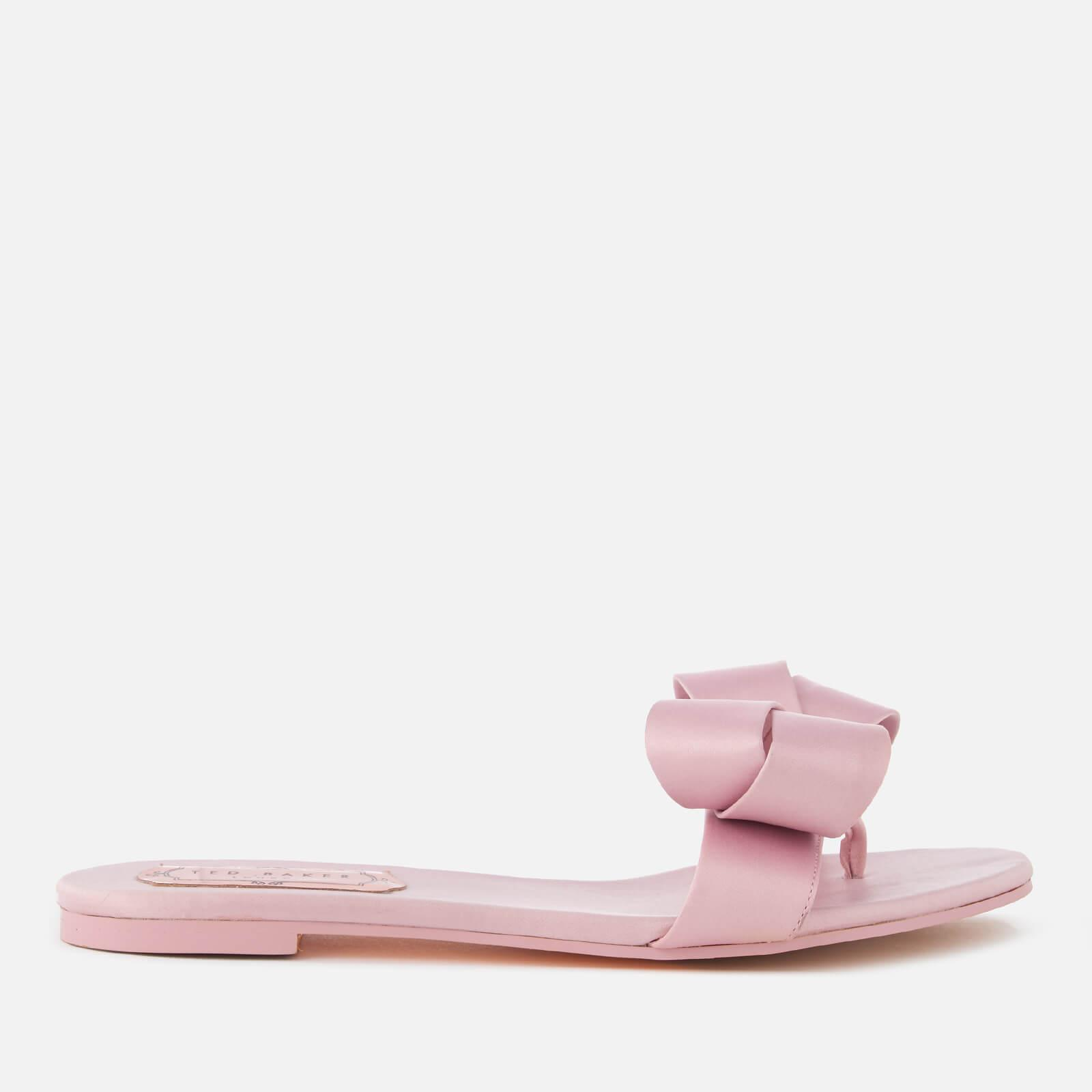 0920d5253 Lyst - Ted Baker Beauita Satin Bow Sandals in Pink