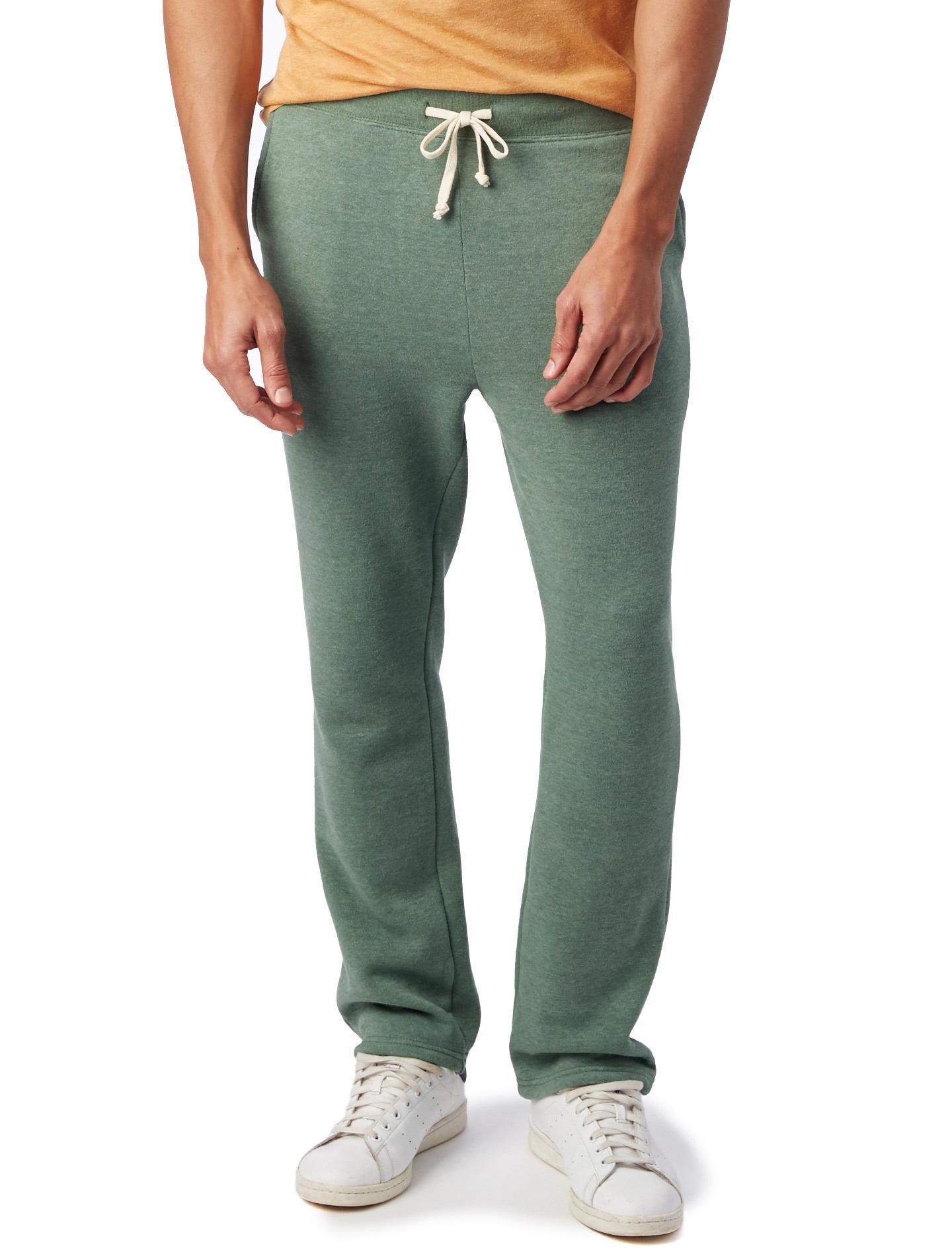 ee92e1ad1 Alternative Apparel. Men's Green Hustle Eco-fleece Open Bottom Sweatpants