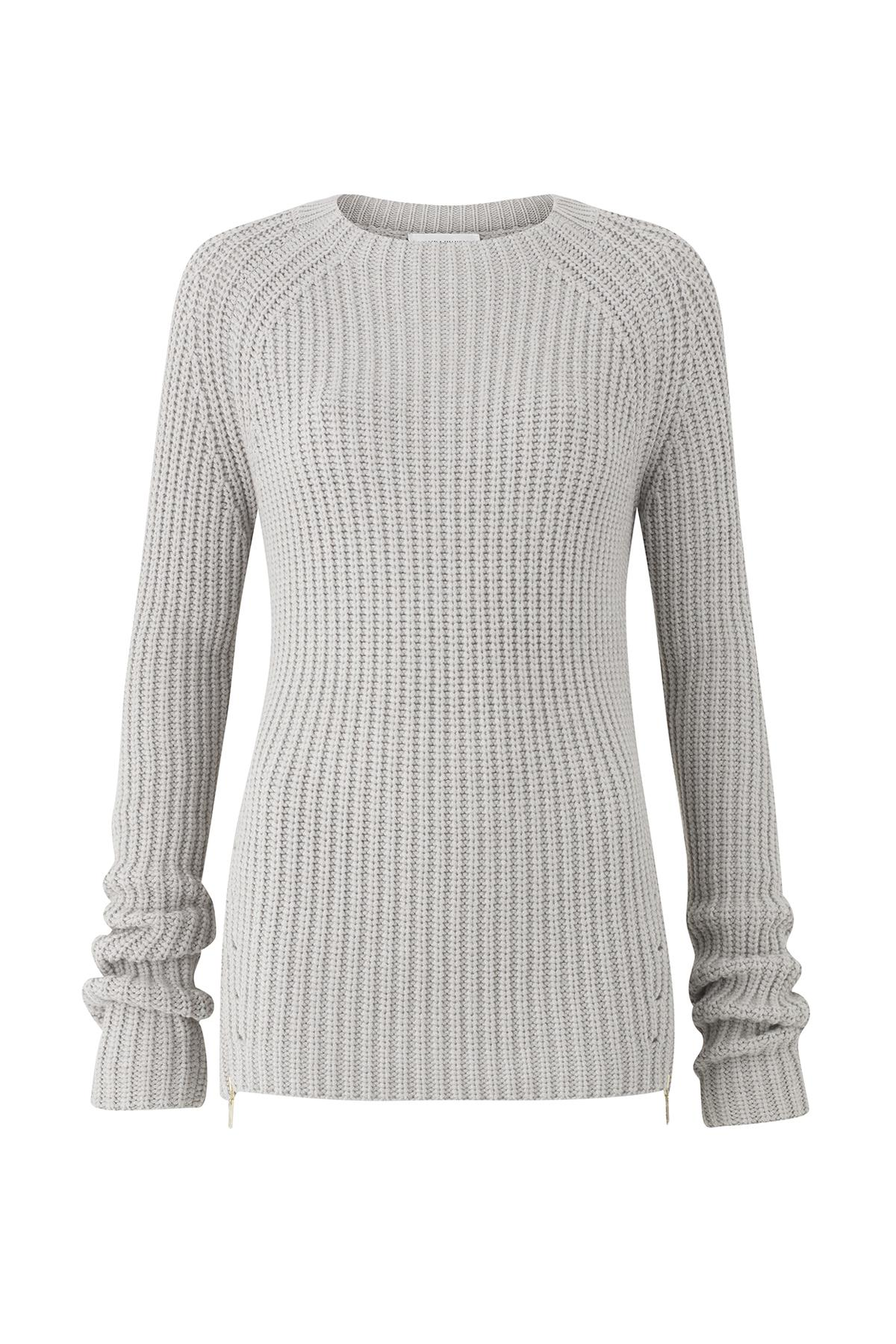 Good Selling Amanda Wakeley Woman Asymmetric Ribbed Merino Wool Sweater Light Gray Size L Amanda Wakeley Outlet Locations ZIwEQxY