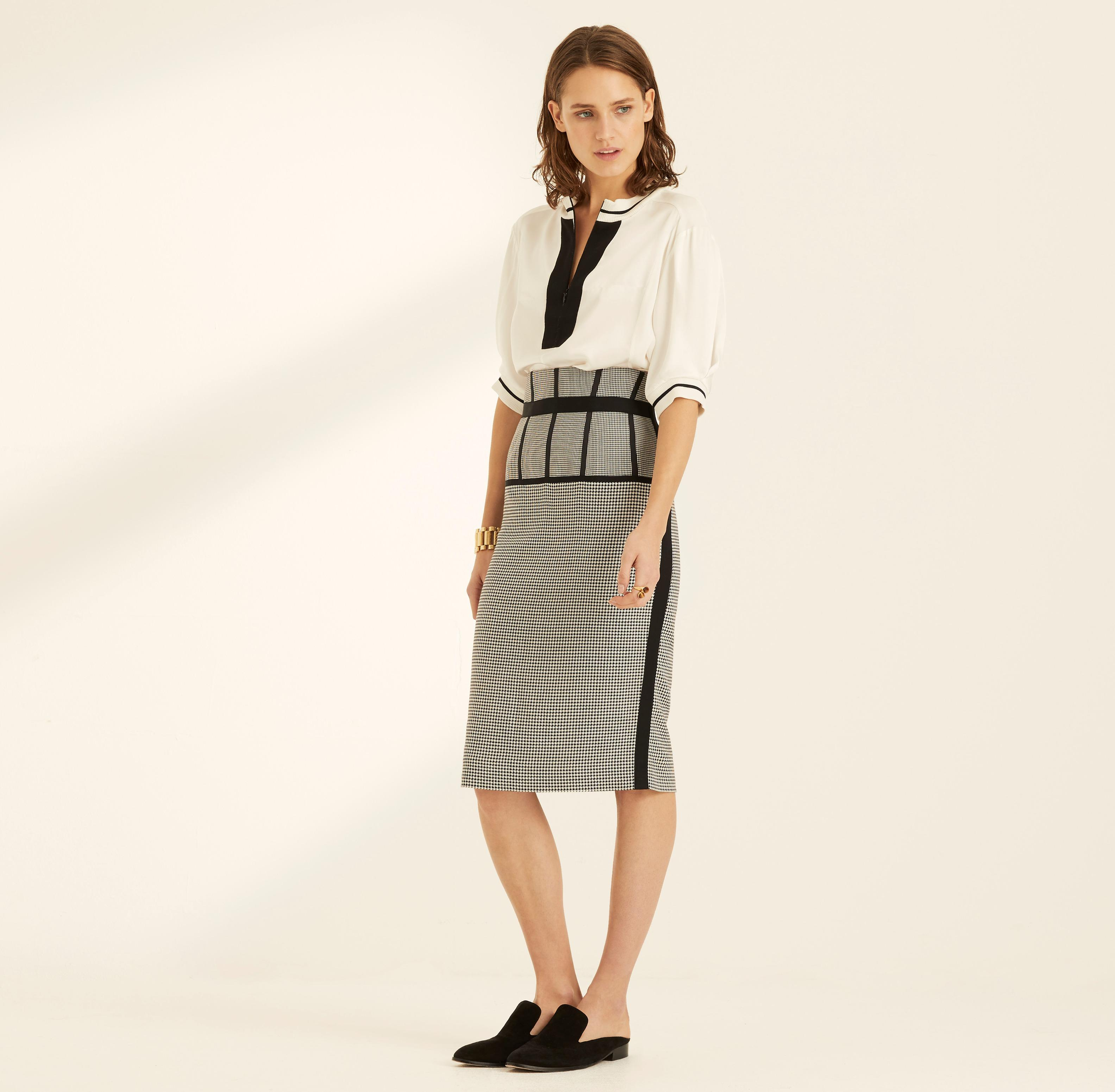 Dogtooth Lyst Check In Rok Wakeley Amanda Pencil Black 0OP8nwkX