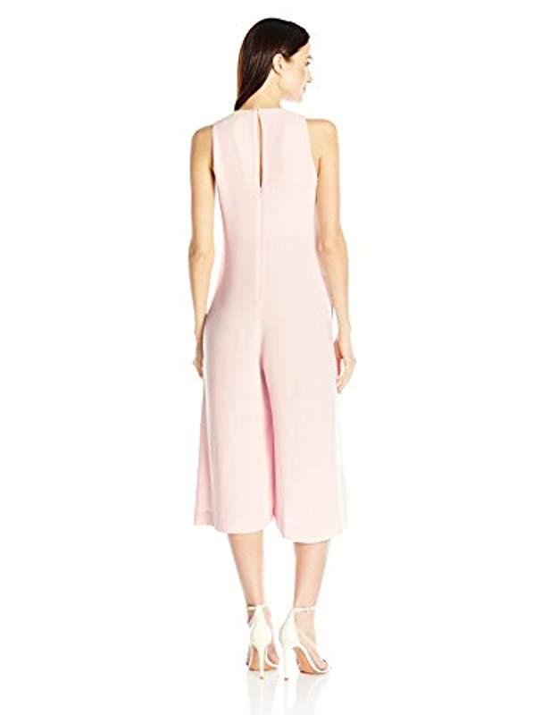 ae68d4d6407 Lyst - French Connection Essien Crepe Jumpsuit in Pink