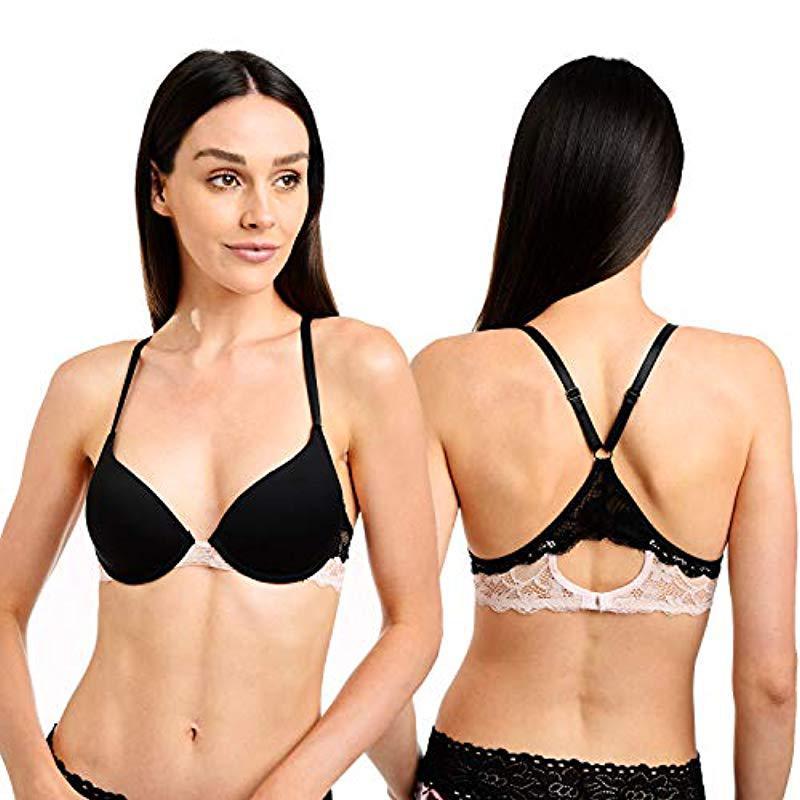 25c9fc48d9 Catherine Malandrino. Women s Black 2-pack Micro T-shirt Bra With Lace Back
