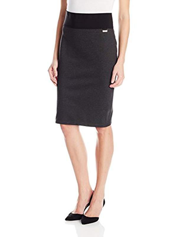 abbdd54aa0c Calvin Klein. Women s Black Plus Size Essential Power Stretch Pencil Skirt