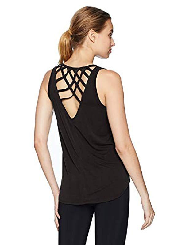 bc08af9aae477 Lyst - Betsey Johnson Criss - Cross Open Back Tank