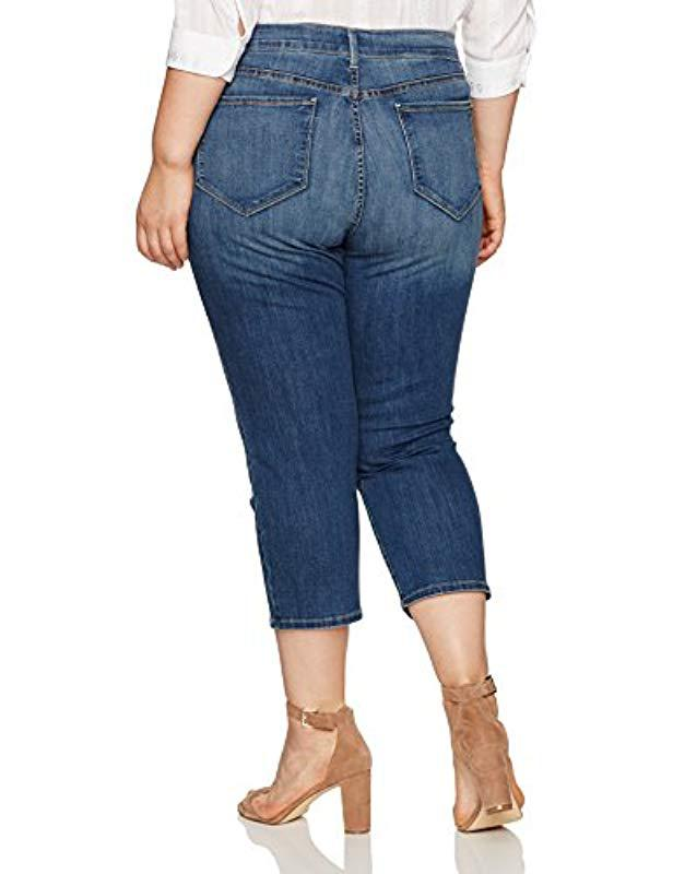 55e6d4c16c8 Lyst - NYDJ Plus Size Marilyn Relaxed Capri Jeans In Cool Embrace Denim in  Blue
