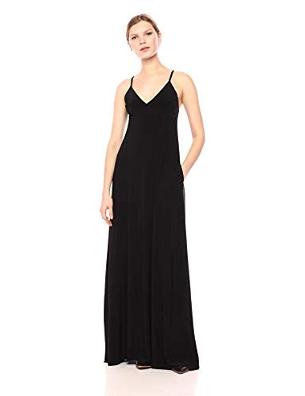 245dcf6f769 Lyst - Norma Kamali Slip A Line Long Dress in Black