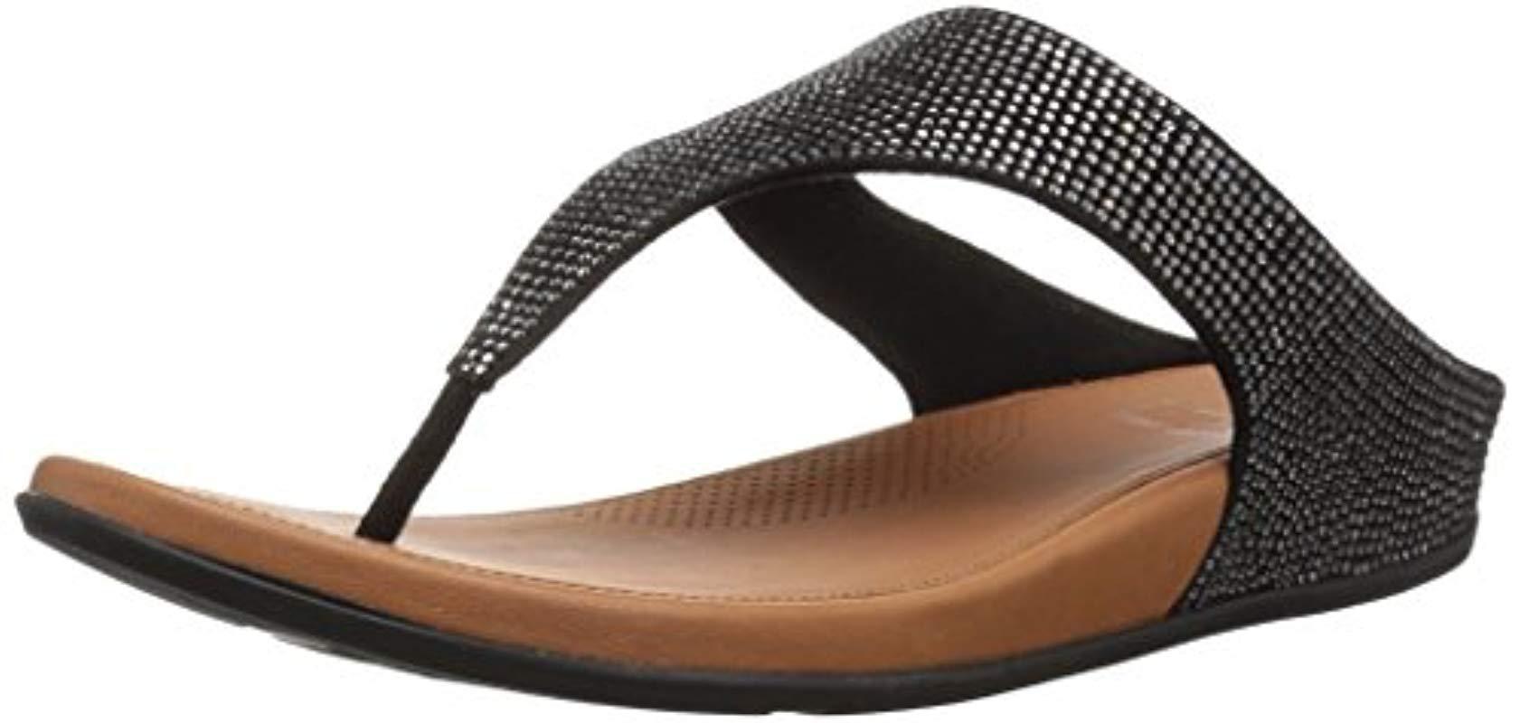 978bd80be Lyst - Fitflop Banda Glitz Sandal in Black