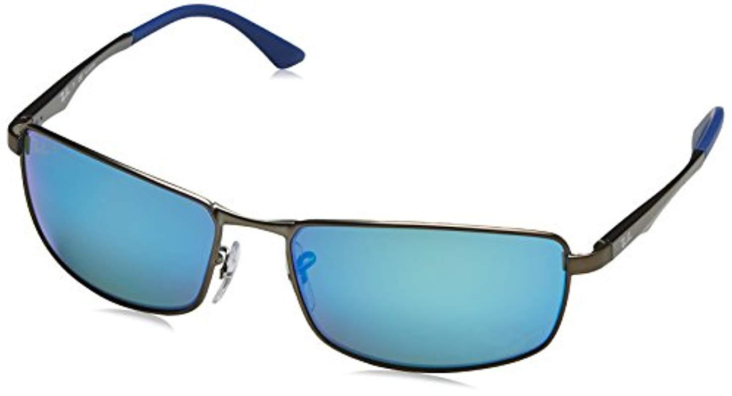 6f25317112 Lyst - Ray-Ban Rb3498 Sunglasses in Blue for Men
