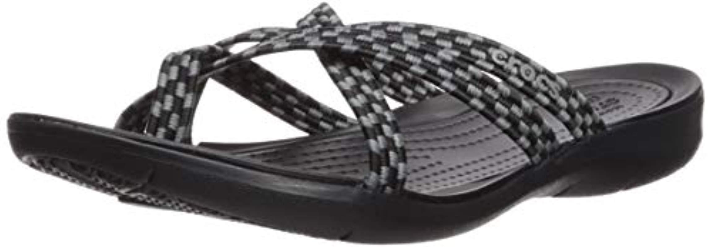 e696bb6c8 Lyst - Crocs™ Swiftwater Braided Web Flip Flop in Black