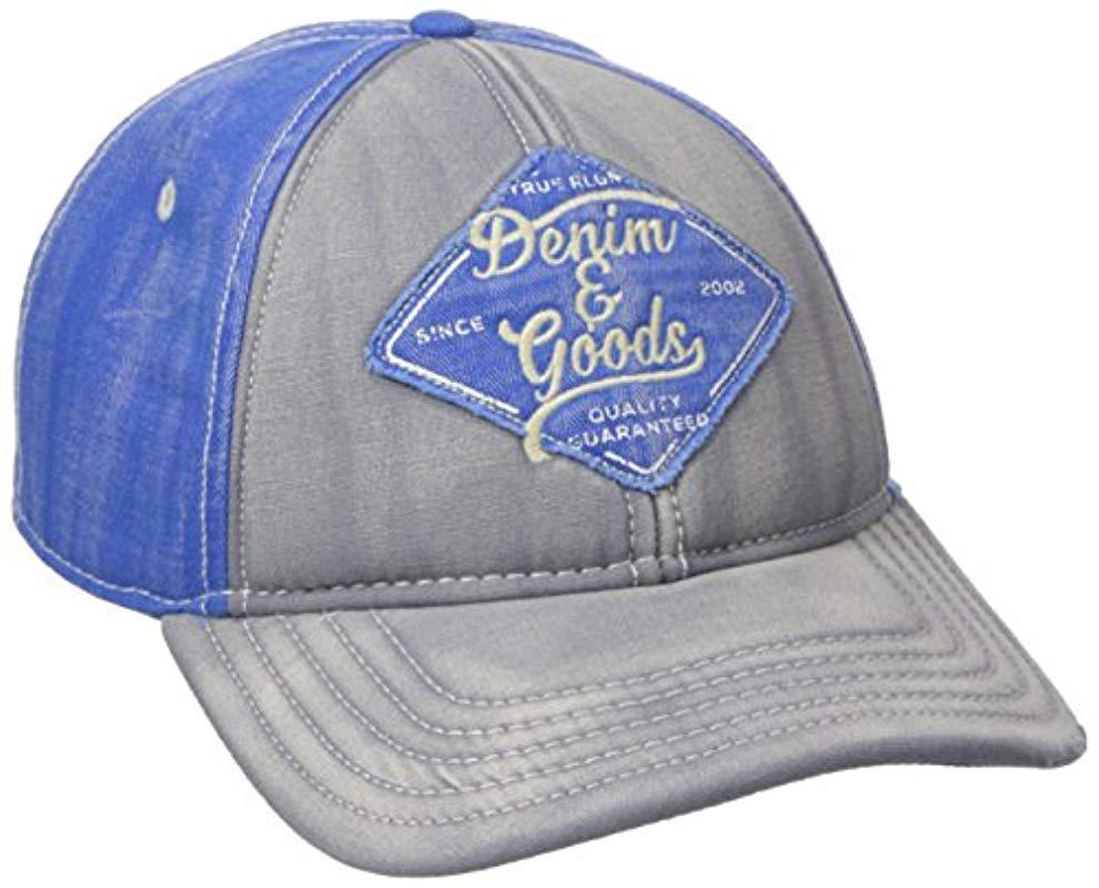 True Religion - Gray Denim   Goods Baseball Cap for Men - Lyst. View  fullscreen c25b175068d1