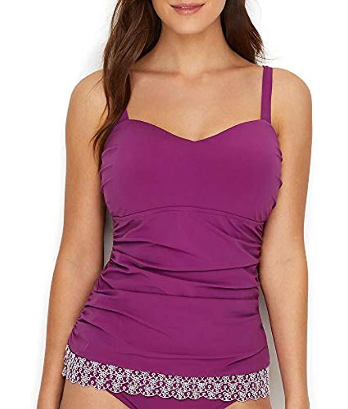 7d19635cf8 Lyst - Gottex Sweetheart Cup Sized Tankini Top Swimsuit in Purple ...