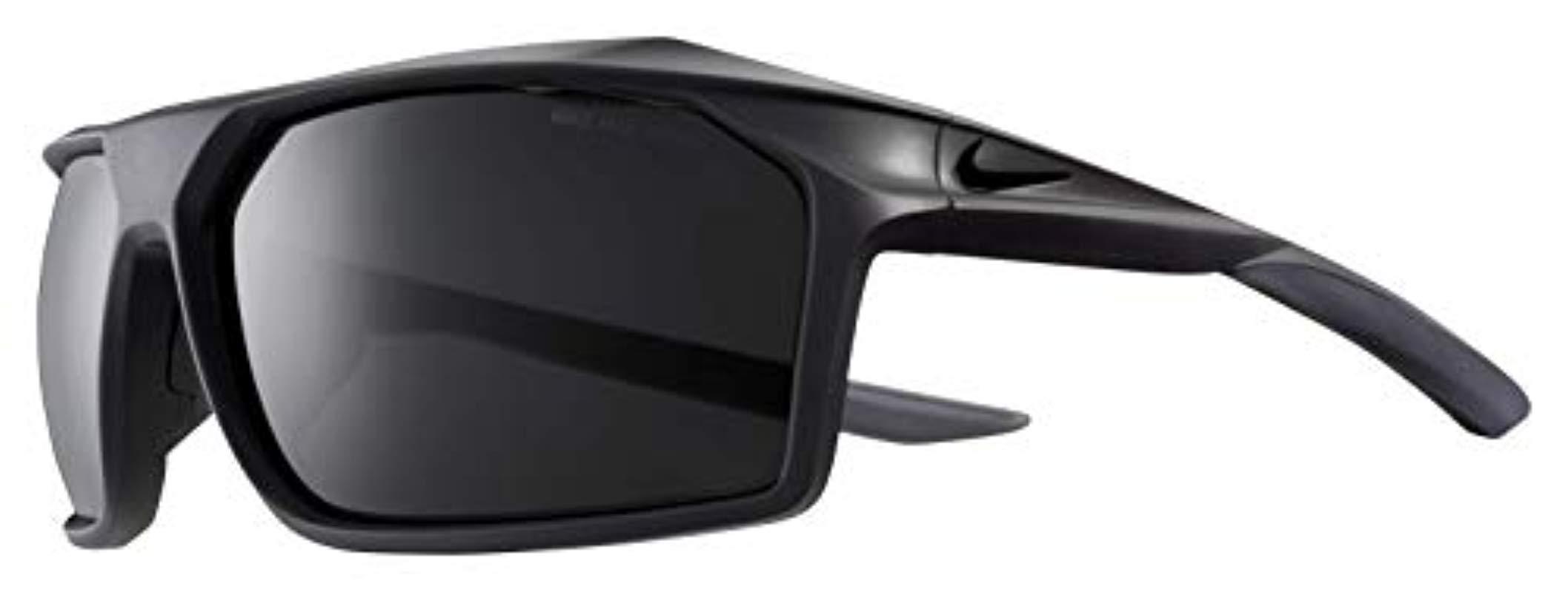 a7126c33093b Nike. Men's Gray Eyewear Traverse Rectangular Sunglasses Matte Oil ...