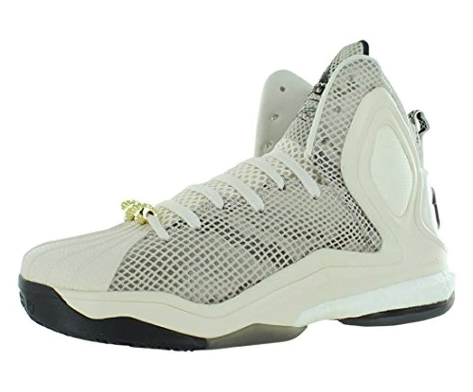 official photos 8b415 61321 adidas. Men s White Performance D Rose 5 Boost Basketball Shoe