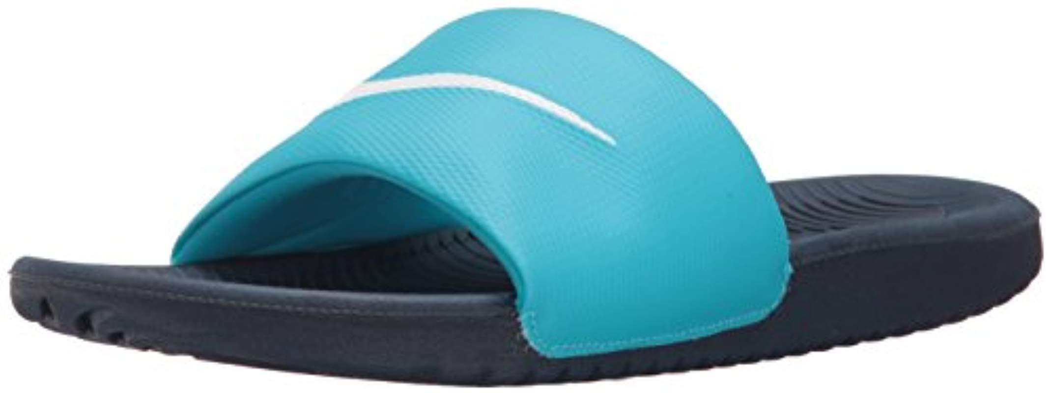 b547809ea315 Lyst - Nike Kawa Slide Sandal in Blue - Save 20%