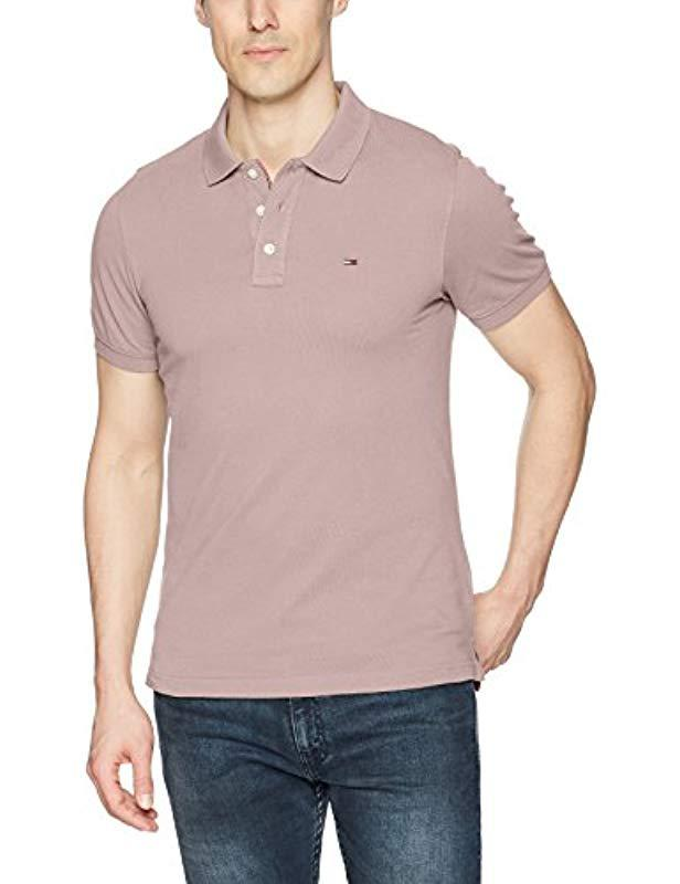 a35fb951 Tommy Hilfiger. Men's Polo Shirt Slim Fit Original Flag With Short Sleeves