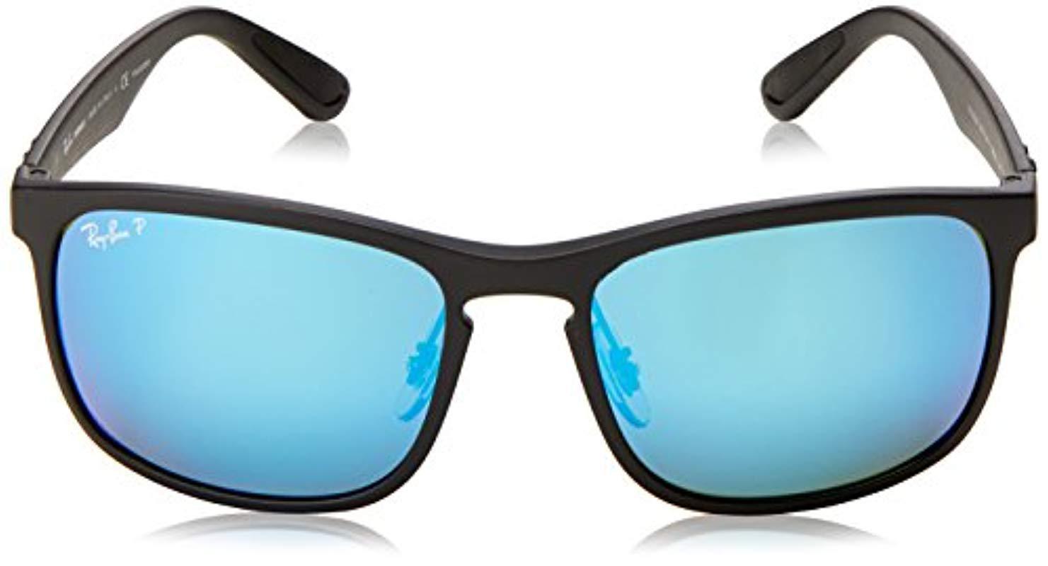 130d7d0e3f3 Ray-Ban - Black Rb4264 Chromance Lens Square Sunglasses for Men - Lyst.  View fullscreen .