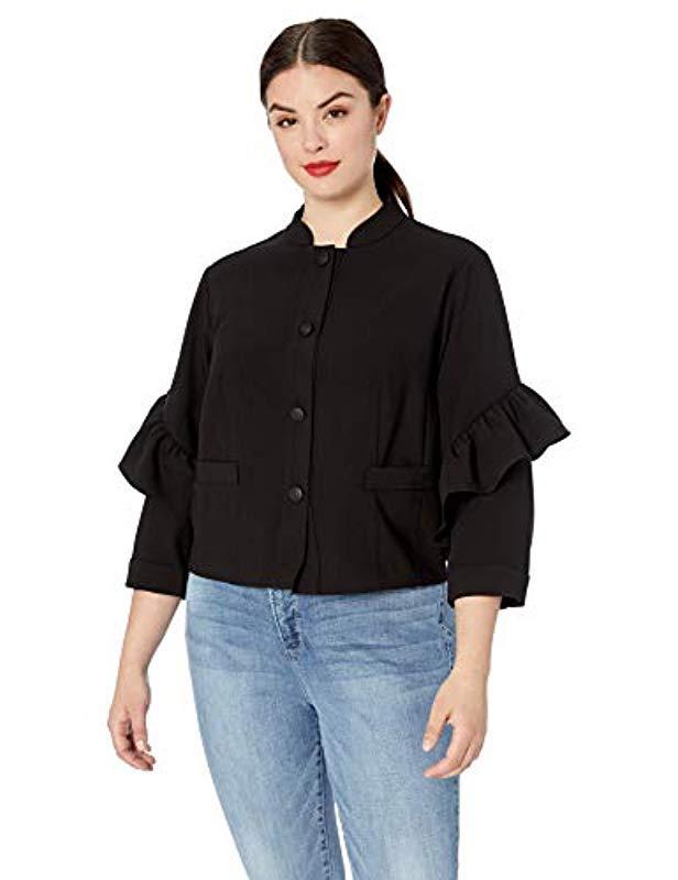 bd13766e8dffd Lyst - RACHEL Rachel Roy Plus Size Ruffle Jacket in Black