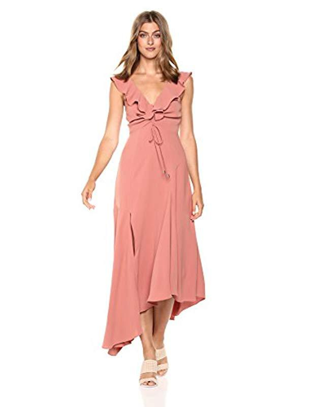 bda8cafe1681 Lyst - C meo Collective Questions Ruffle Sleeve Scoop Neck Gown With ...