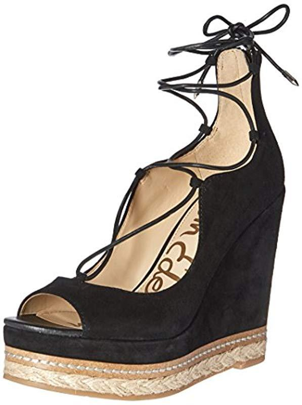 9c4965713 Lyst - Sam Edelman Harriet-1 Espadrille Wedge Sandal in Black