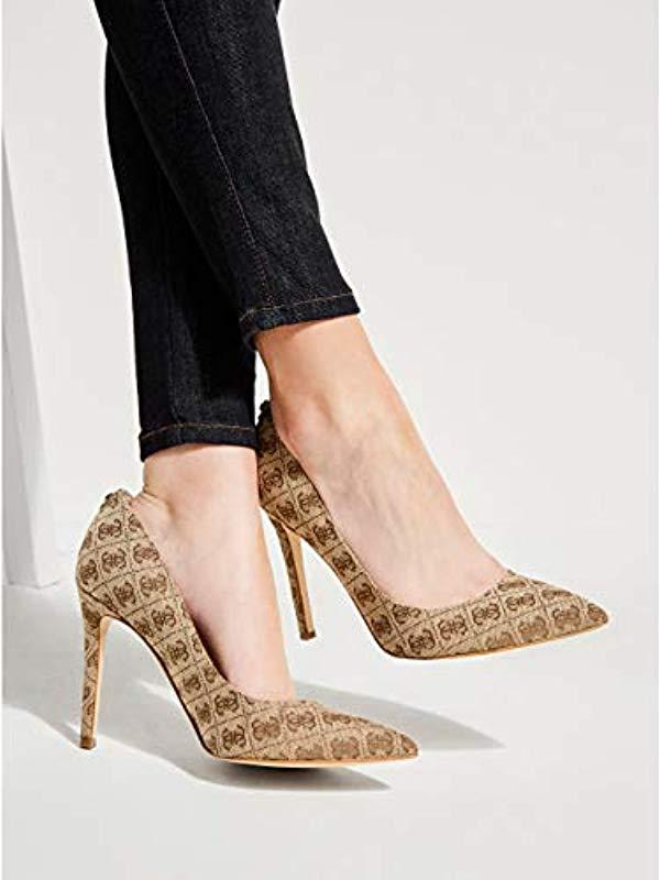 b07311285c7 Guess - Multicolor Pointed Faux-leather Pumps - Lyst. View fullscreen