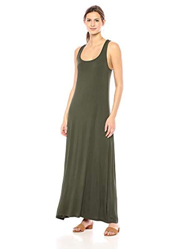 34823624db7 Lyst - Daily Ritual Jersey Sleeveless Racerback Maxi Dress in Green