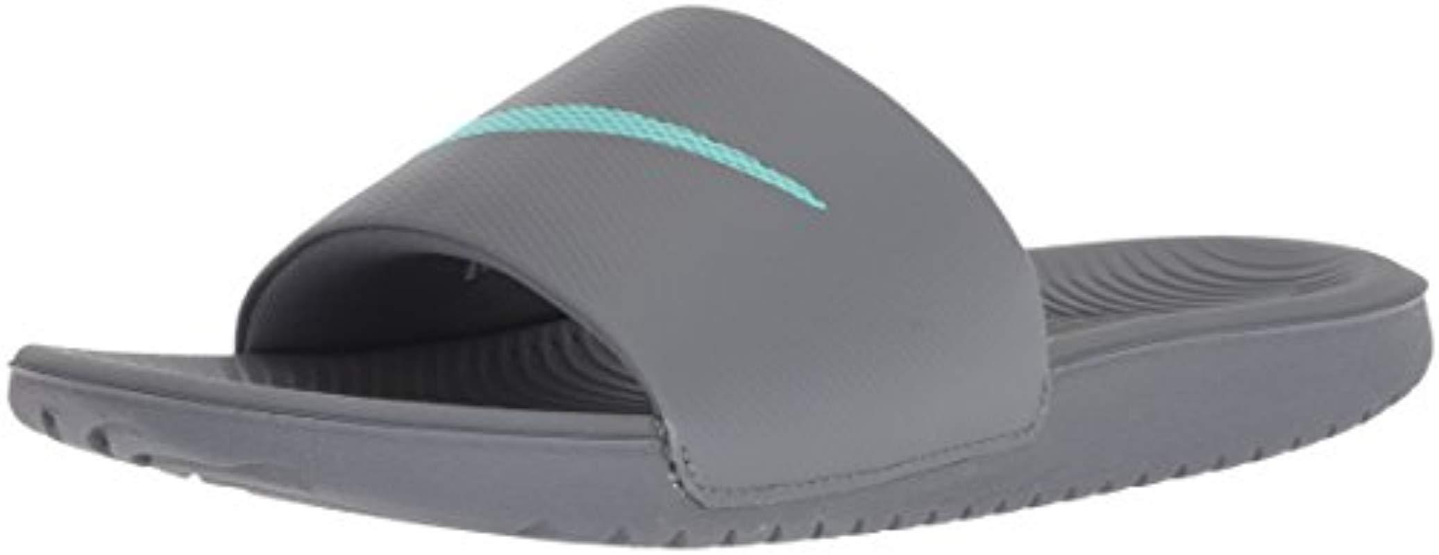 c53a2a28d7c5 Lyst - Nike Kawa Slide Sandal in Gray - Save 20%