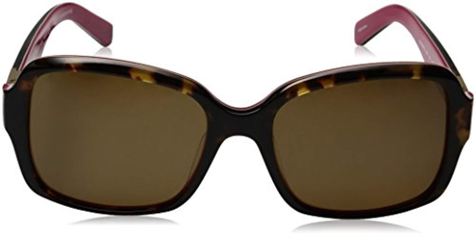 b7c51fe337a00 ... Kate Spade Annora ps Annorps Polarized Rectangular Sunglasses - Lyst.  View fullscreen