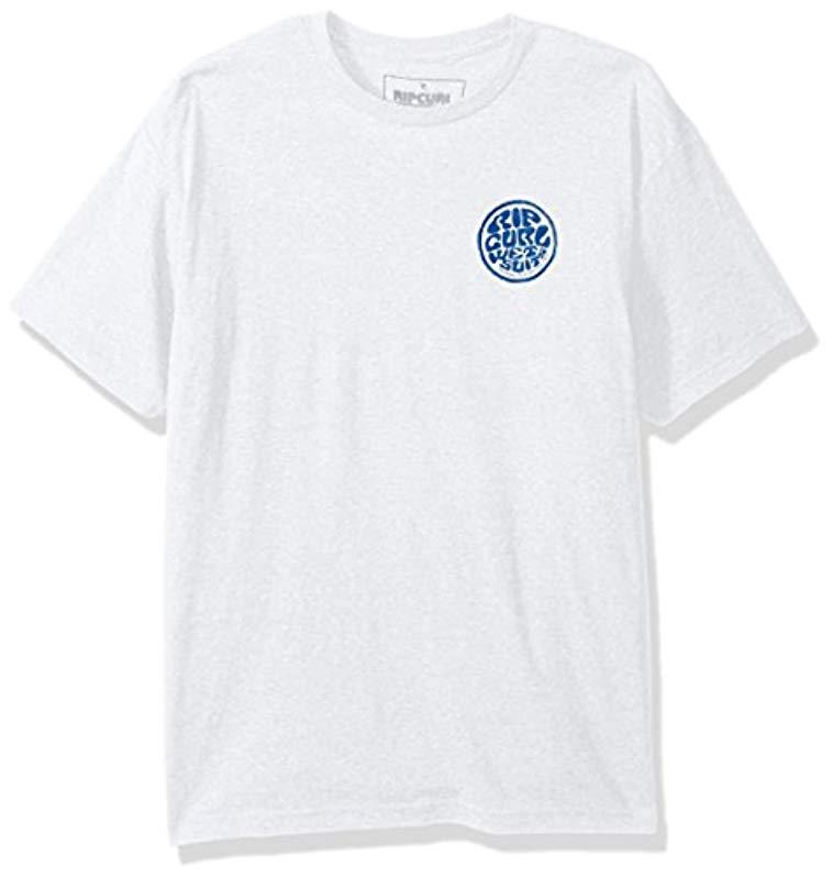 1617c985f10f Rip Curl Wettie Patch Heather Tee in White for Men - Lyst