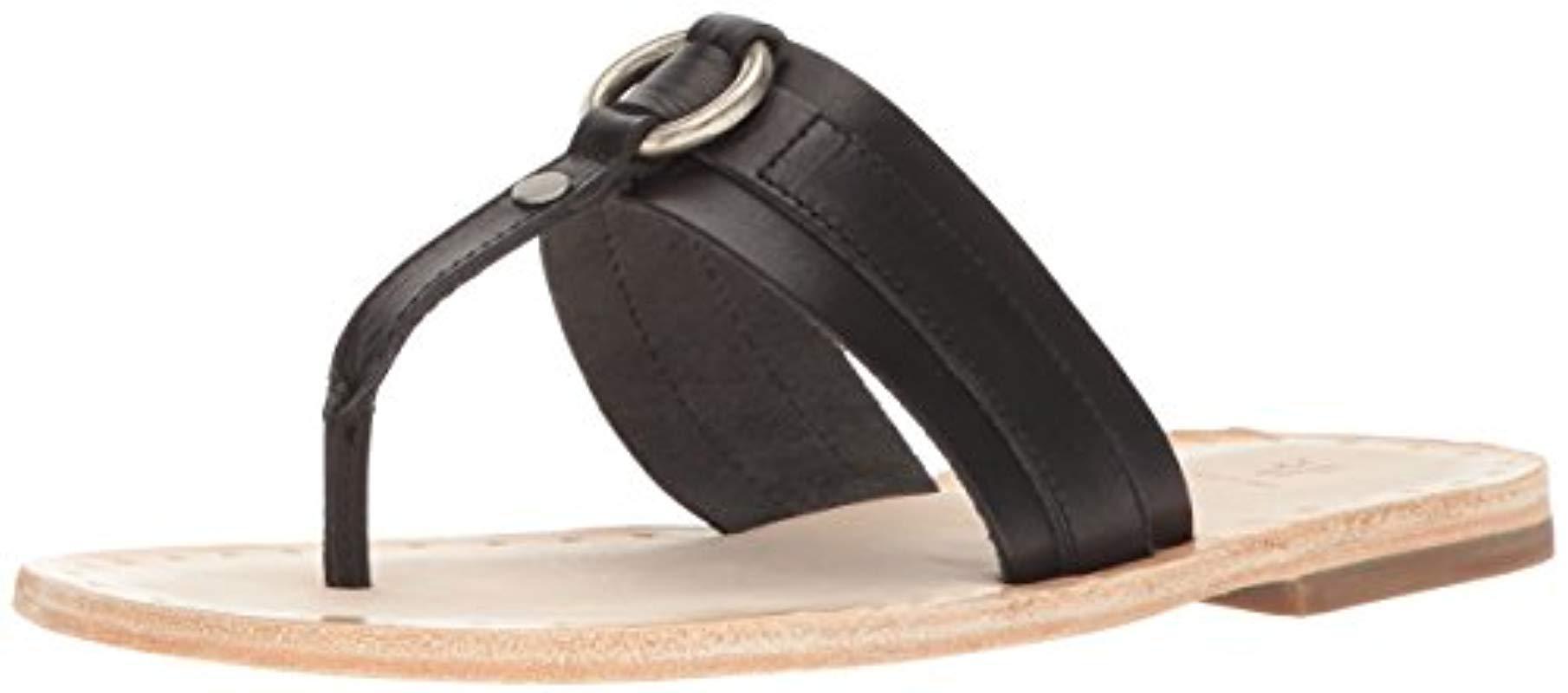 88e87b28ae1 Lyst - Frye Avery Harness Thong Flat Sandal in Black