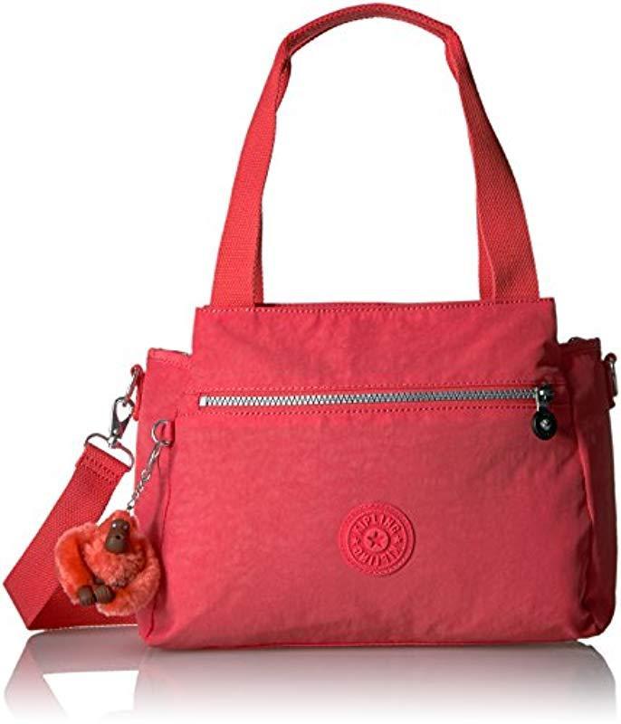 f385ae61dd Lyst - Kipling Womens Elysia Solid Convertible Crossbody Bag in Red ...