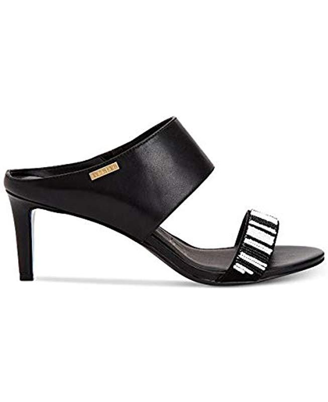 Klein Sandal Black Calvin In Cecily Lyst Dress 3R4LAjqc5